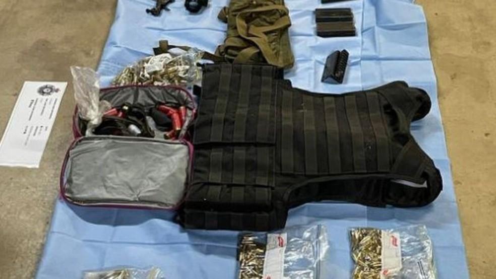 Armas apreendidas pela polícia — Foto: Polícia Federal da Austrália