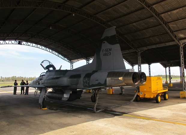Caça F-5 assume a defesa do Planalto após a desativação do Mirage (Foto: Tahiane Stochero/G1)