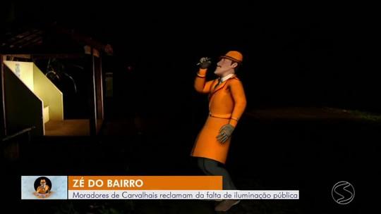Moradores de Carvalhais, em Paraíba do Sul, reclamam da falta de iluminação pública