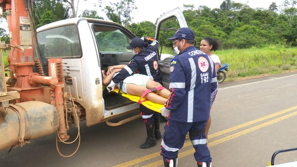 Uma amiga ajudou jovem a ter o bebê em Ariquemes (Foto: Rede Amazônica/Reprodução)