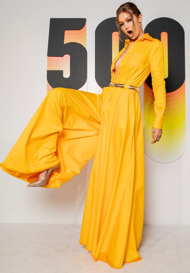 Gigi Hadid no evento que celebrou a lista #BOF500 (Foto: Business of Fashion)