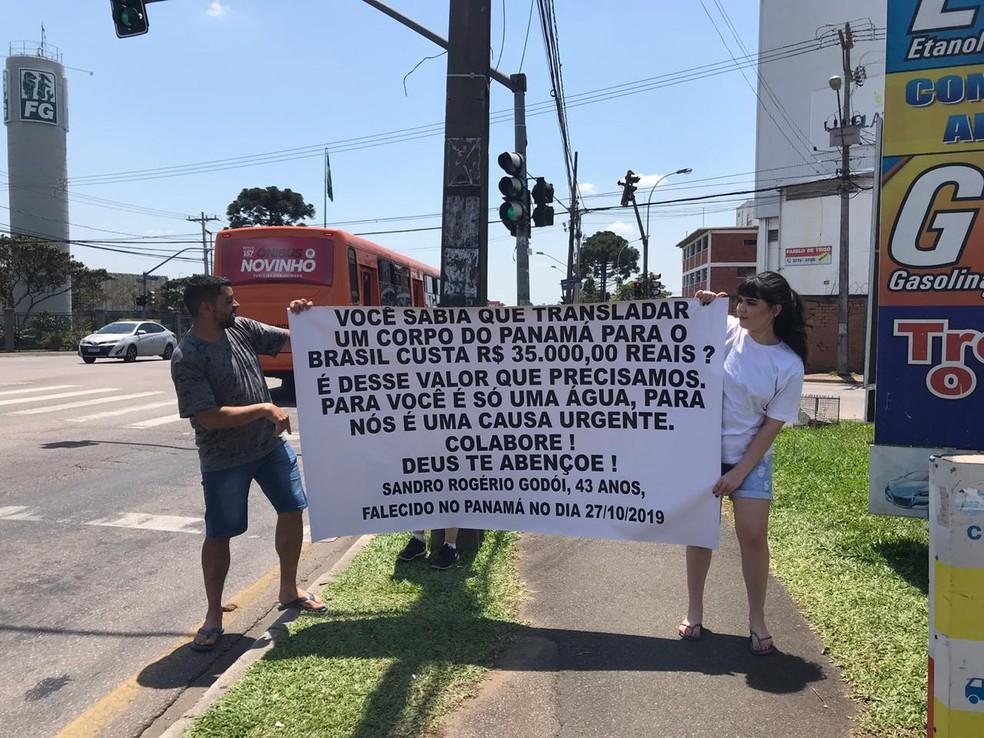 Familiares e amigos se mobilizaram para tentar arrecadar dinheiro para fazer o translado do corpo do montanhista Sandro Godoy — Foto: Arquivo pessoal/Fabiane Moraes