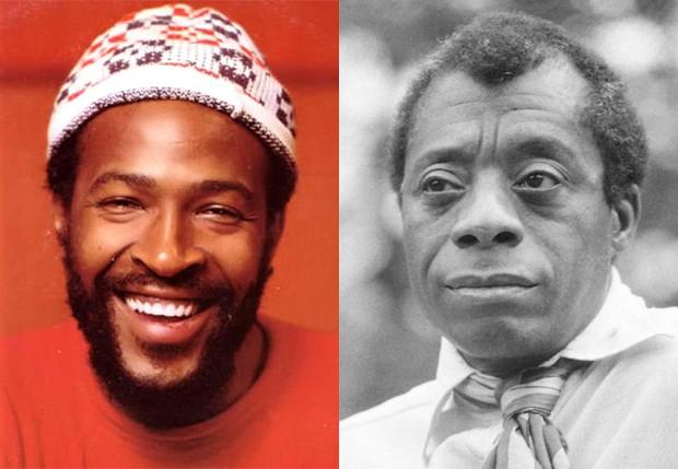 Marvin Gaye e James Baldwin (Foto: Reprodução)