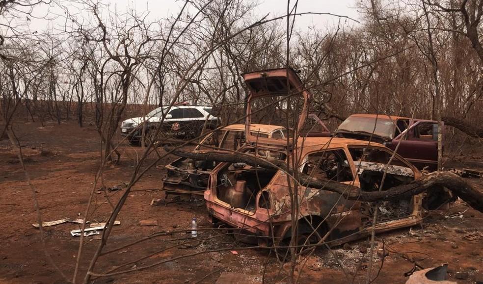 Operação 'Desmonte' apontou organização criminosa que furtava e adulterava carros em Barretos e região — Foto: Divulgação/Polícia Civil