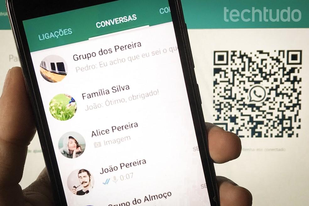 WhatsApp começa a testar botão para videochamada com até 50 pessoas na versão web — Foto: Rodrigo Fernandes/TechTudo