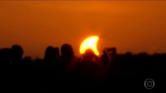 Foto de eclipse feita por balão de astrônomos de Brasília ganha destaque na Nasa