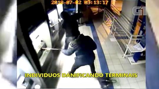 Vídeo mostra ação de criminosos em banco invadido em Cachoeira Paulista; assista