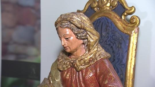 Exposição reúne imagens da mãe de Maria, em Tiradentes.