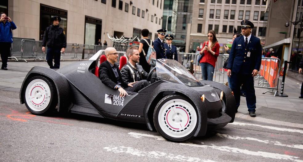 Local Motors criou um carro com uma impressora 3D (Foto: Reprodução/IMTS)