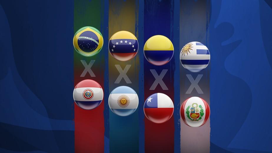 Brasil reencontra o Paraguai nas quartas de final da Copa América; confira os confrontos