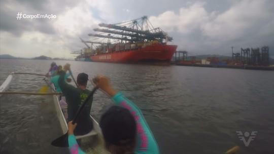 Vanessa Faro rema 40 km na volta à Ilha de São Vicente