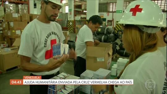 Ajuda humanitária enviada pela Cruz Vermelha chega na Venezuela