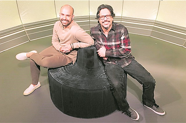 Lucio Mauro Filho e Lucas Gutierrez (Foto: TV Globo)