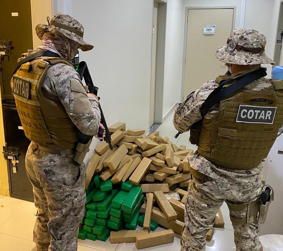 A droga foi levada para a sede da Polícia Federal em Fortaleza — Foto: Divulgação/PRF