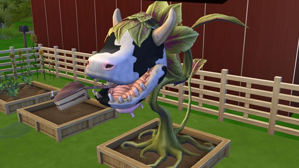 A Essência da Planta-Vaca pode rejuvenescer os Sims em The Sims 4 (Foto: Reprodução/Tais Carvalho)