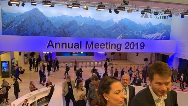 Fórum Econômico Mundial, em Davos, na Suíça (Foto: Getty Images)