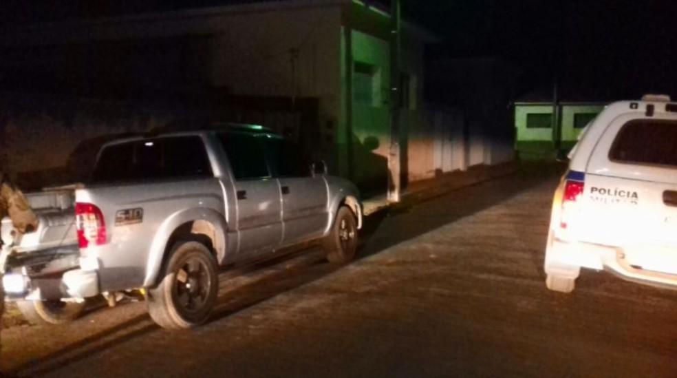 Caminhonete foi recuperada em Campestre (Foto: Polícia Militar)