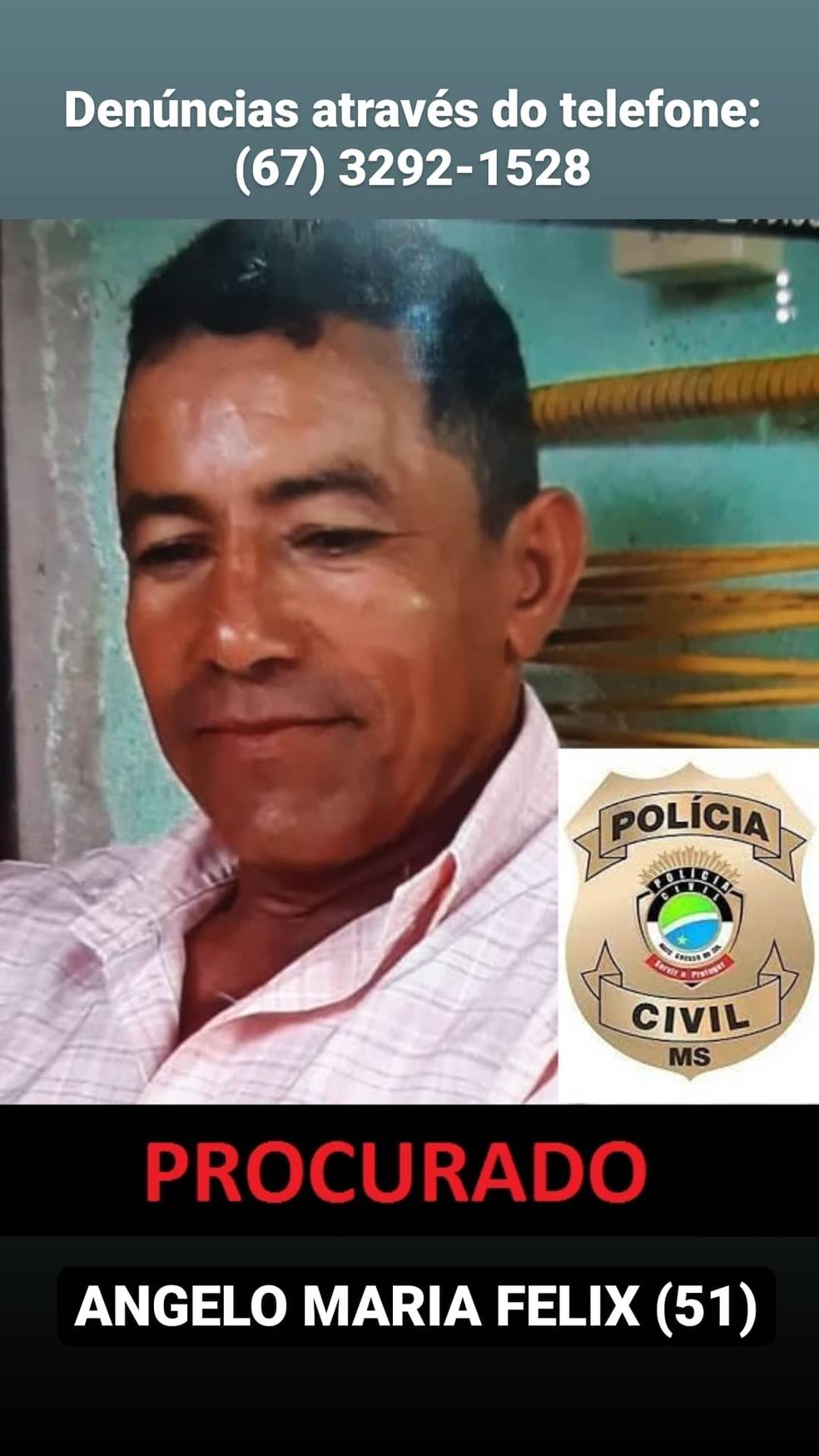 Homem teve a prisão preventiva decretada e está foragido; polícia recebe informações em sigilo — Foto: Polícia Civil/Divulgação