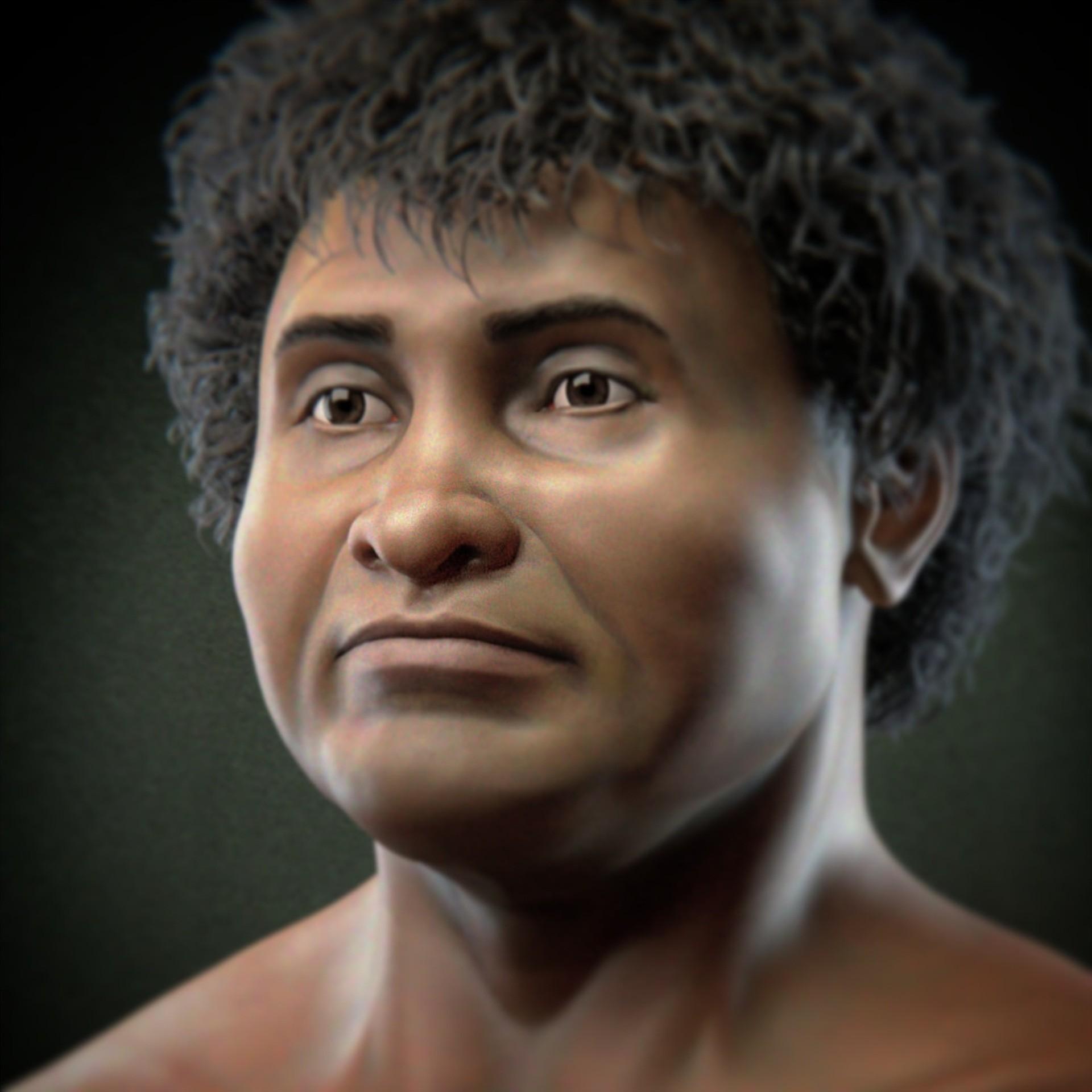 Homem de Lagoa Santa, um dos primeiros registros de um ser humano que habitou o Brasil, há mais de 10 mil anos (Foto: Reprodução/ Cícero Moraes)