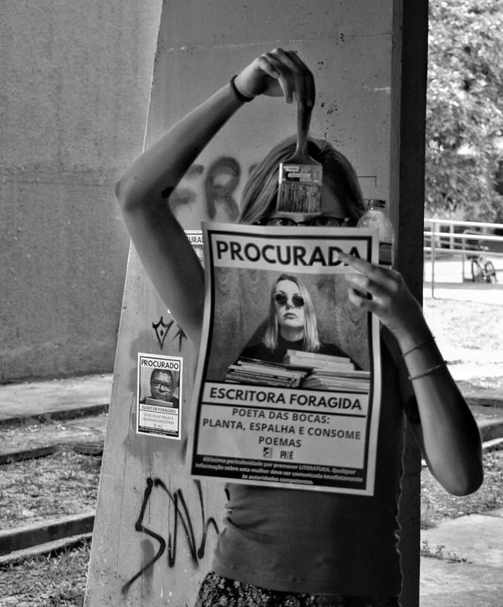 Intervenção é uma provocação estética e semântica — Foto: Divulgação
