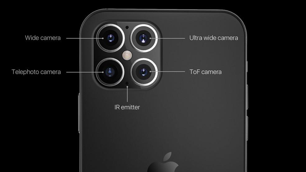 iPhone 12 Pro pode vir com câmera quádrupla — Foto: Reprodução/GizChina