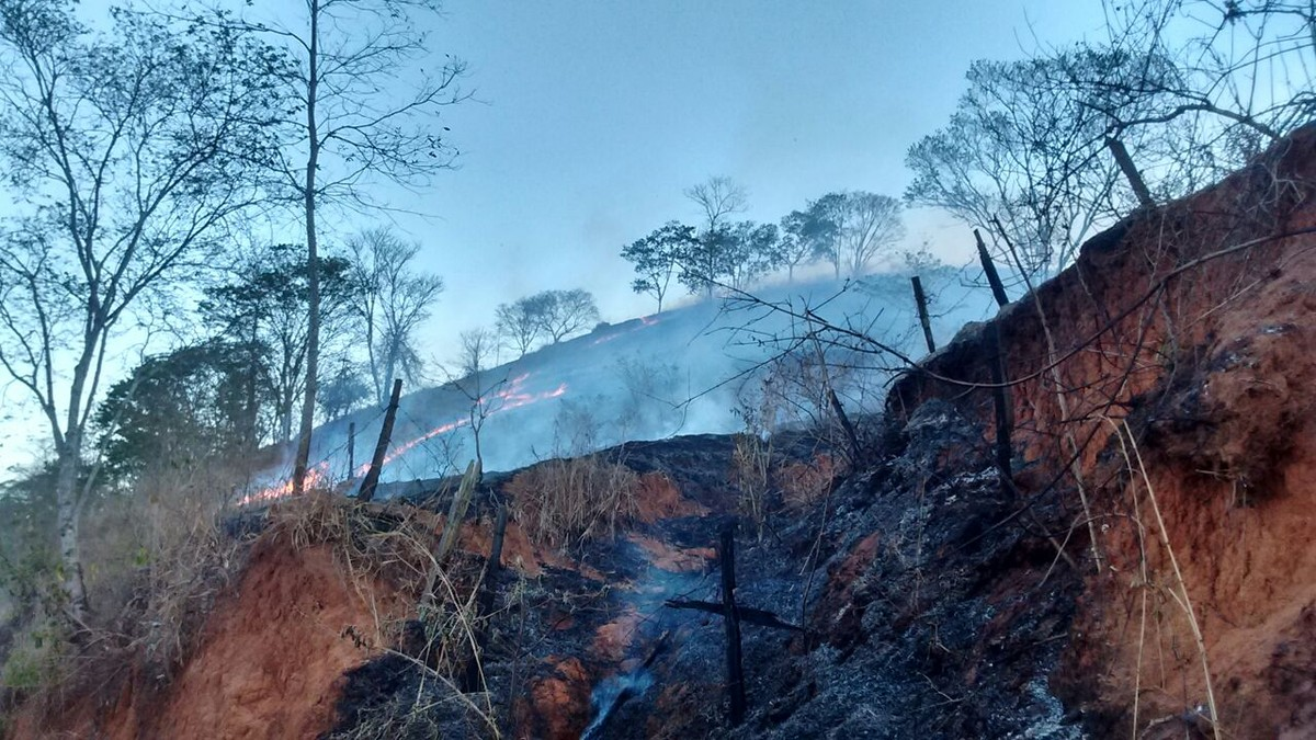 Três incêndios atingem área equivalente a 638 campos de futebol em Miracema, no RJ