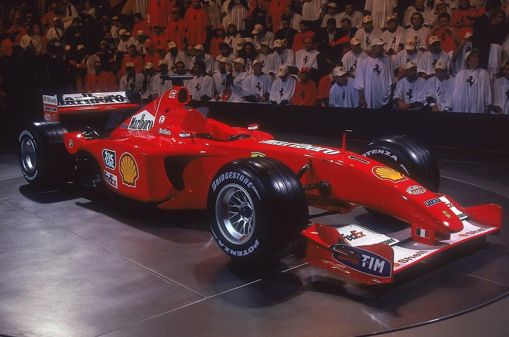 F2001, a Ferrari do quarto título de Schumacher na F1 (Foto: Getty Images)