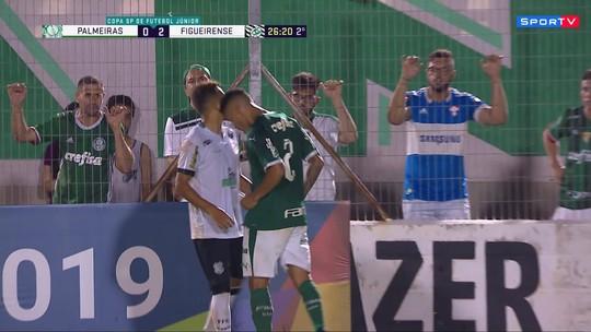 Marcus Meloni, do Palmeiras, dá cabeçada no adversário