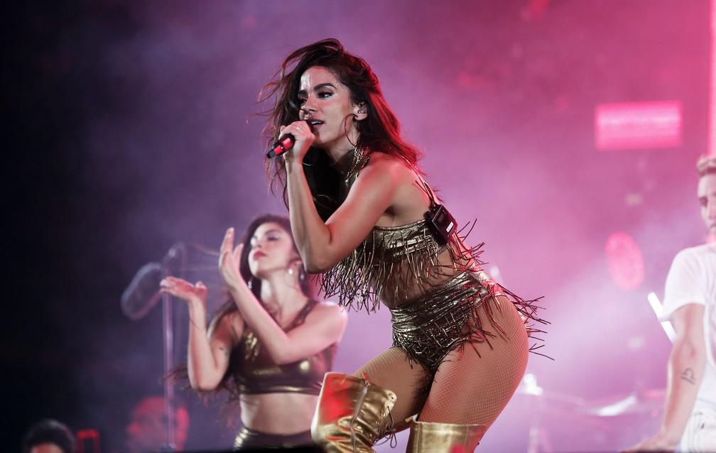 1 de janeiro - Anitta  se apresenta na festa de réveillon de Copacabana, Rio de Janeiro (Foto: Marcos Serra Lima/G1)