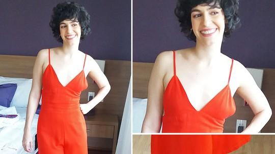 Maria Flor dá dicas para cabelos curtos e cacheados, nos bastidores do 'Estrelas do Brasil'