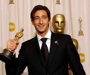 Adrien Brody na cerimônia do Oscar em 2003