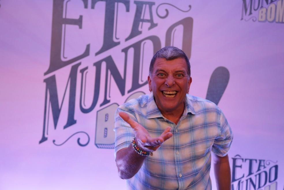 Jorge Fernando no lançamento da novela 'Êta Mundo Bom', de 2016  Foto: Globo / Paulo Belote