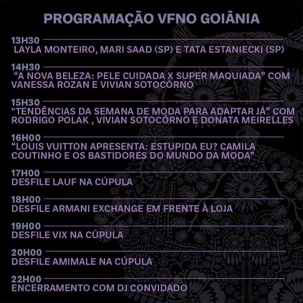 Programação VFNO 2018 no Flamboyant Shopping (Foto: Divulgação)