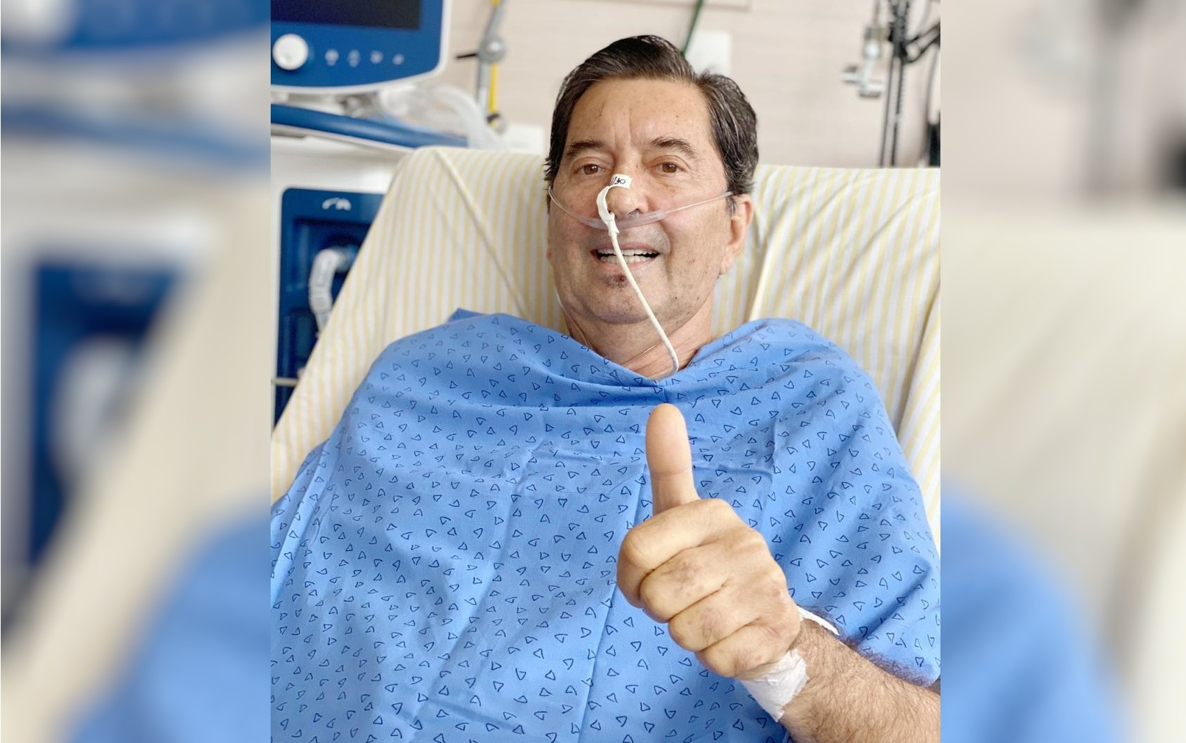 Maguito Vilela tem inflamação nos pulmões controlada, diz boletim médico
