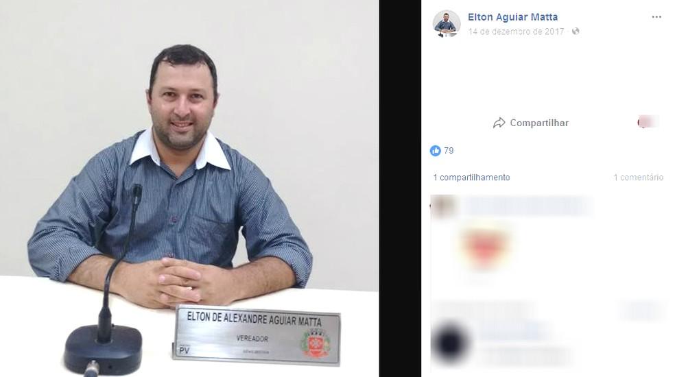 Elton de Alexandre Aguiar Matta (PV) morreu ao ser baleado na BR-376, em Palmeira (Foto: Reprodução Facebook)