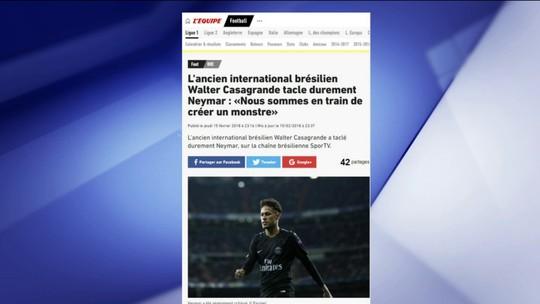Críticas de Casagrande ao comportamento de Neymar repercutem na imprensa internacional