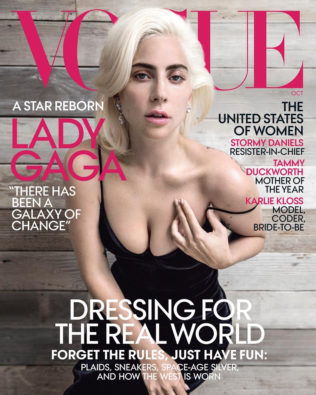 Lady Gaga na Vogue americana de outubro 2018 (Foto: Reprodução/Instagram: @ladygaga)