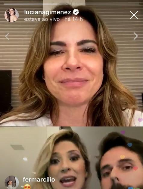 Dani Calabresa e Luciana Gimenez em live no Instagram (Foto: Reprodução)