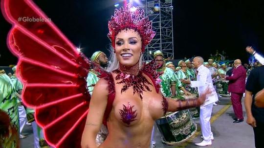 Juju Salimeni, rainha da X-9 Paulistana, fala do homenageado Arlindo Cruz: 'Ícone do carnaval'