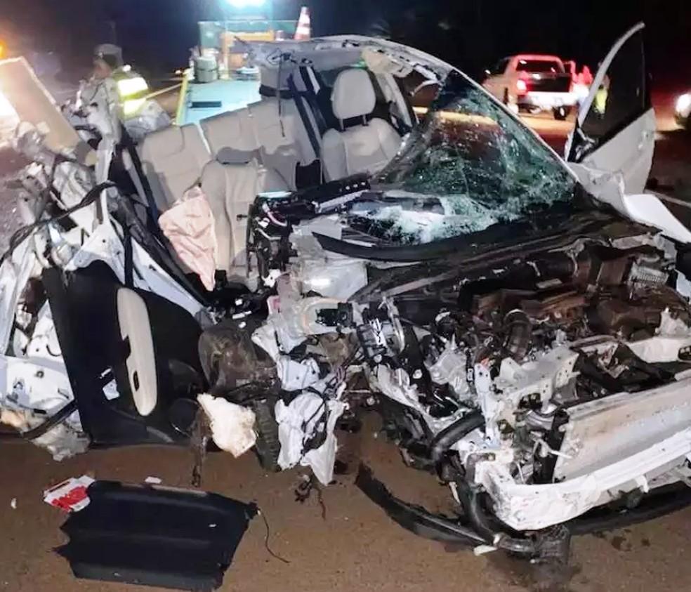 Cantora de Américo Brasiliense sofre acidente rodovia SP-255 — Foto: ACidadeON Araraquara