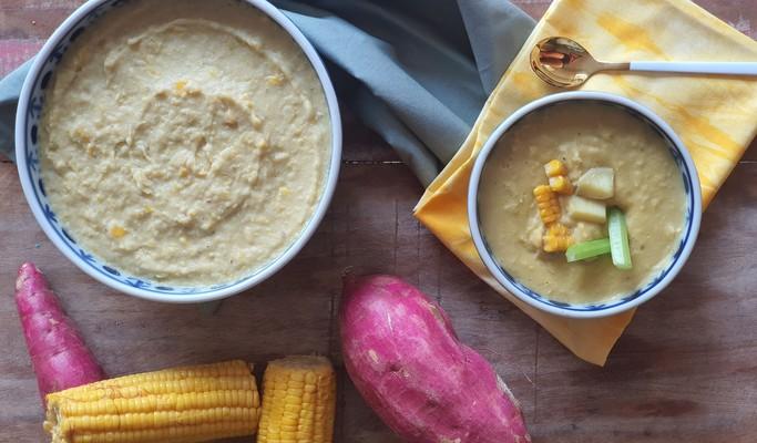 Receita de creme de milho com batata-doce