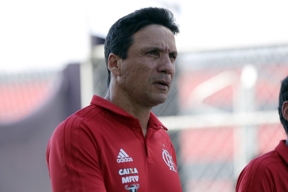Zé Ricardo na partida contra o Vitória, sua última no comando do Flamengo (Foto: LUCAS TAVARES/FOTOARENA/ESTADÃO CONTEÚDO)