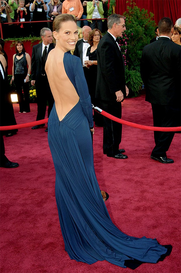 Hillary Swank no Oscar de 2005 (Foto: Getty Images)