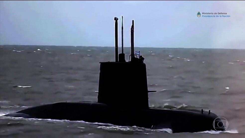 Força-tarefa internacional procura submarino argentino que desapareceu  (Foto: TV Globo)