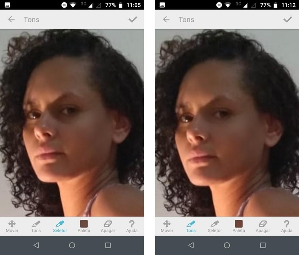 Facetune edita selfies, porém é pago — Foto: Reprodução/Raquel Freire