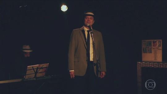 Uma homenagem ao cantor Frank Sinatra na voz do ator Aloisio de Abreu