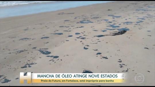 Bolsonaro determina investigação sobre óleo que há 1 mês atinge praias do Nordeste