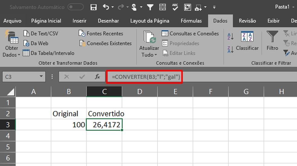 O campo com a fórmula alterará automaticamente os valores da célula previamente escolhido (Foto: Reprodução/Daniel Ribeiro)