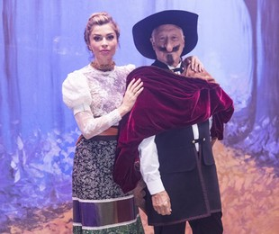 Fagundes e Grazi viram Cyrano de Bergerac e Roxane (TV Globo/João Miguel Júnior)