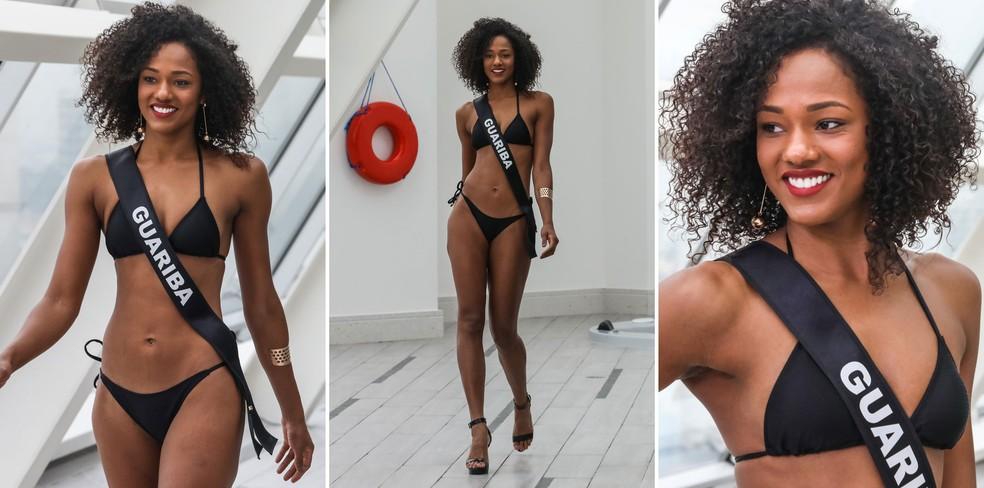 A Miss Guariba, Leticia Carina Lopes De Sousa, de 24 anos, segundo lugar no Miss São Paulo 2018 (Foto: Fábio Tito/G1)
